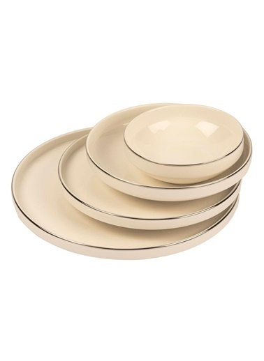 Mikasa Moor Gümüş Modern 24 Parça Yemek Takımı (6 Kişilik) Gümüş